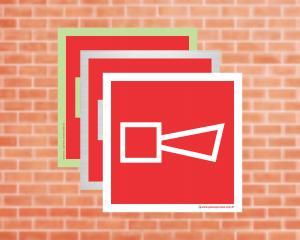 Placa Alarme Sonoro (Cod: EX21)    Adesivo vinil impressão digital Corte Reto