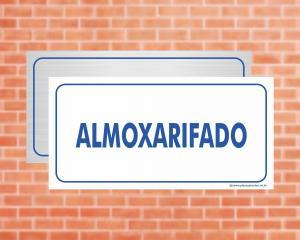 Placa Almoxarifado (Cod: EC08)    Adesivo vinil impressão digital Corte Reto