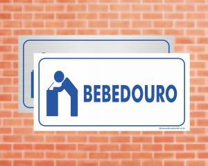 Placa Bebedouro (Cod: EC06)    Adesivo vinil impressão digital Corte Reto