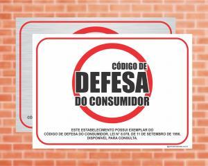 Placa Código de Defesa do Consumidor, Lei nº 8.078 (Cod: L10)    Adesivo vinil impressão digital Corte Reto