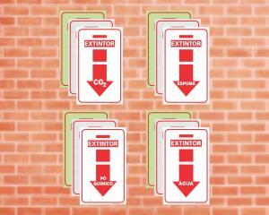 Placa para Extintor (Cod: EX01)    Adesivo vinil impressão digital Corte Reto