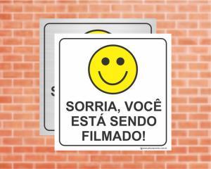 PLACA PICTOGRAMA Sorria, Você Está Sendo Filmado (Cod: PI08)