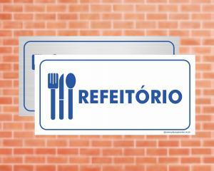 Placa Refeitório (Cod: EC03)    Adesivo vinil impressão digital Corte Reto