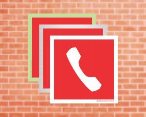 Placa Telefone ou Interfone de Emergência (Cod: EX20)    Adesivo vinil impressão digital Corte Reto