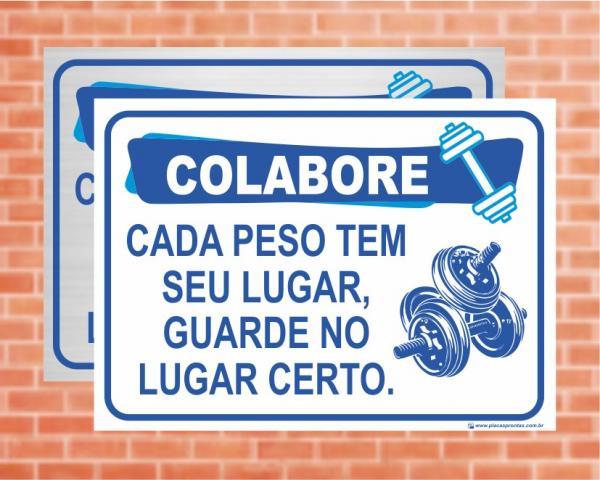 Placa Academia Colabore (Cod: AC02)