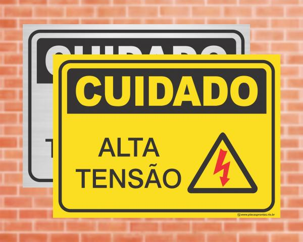 Placa Cuidado Alta Tensão (cod: CU05)