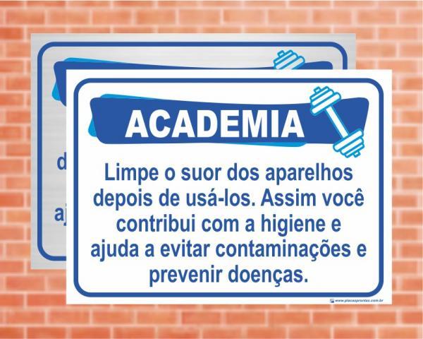 Placa Academia Contribui com a Higiene. (Cod: AC06)