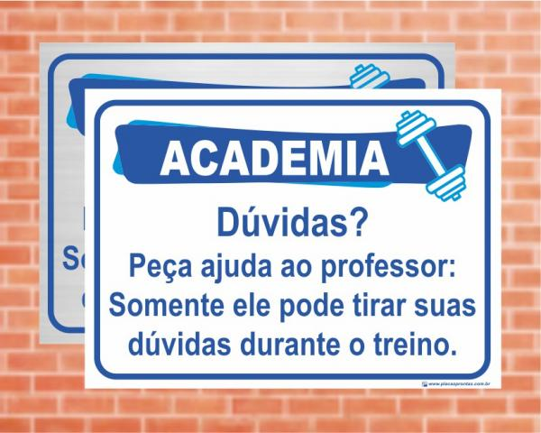 Placa Academia Dúvidas? (Cod: AC08)