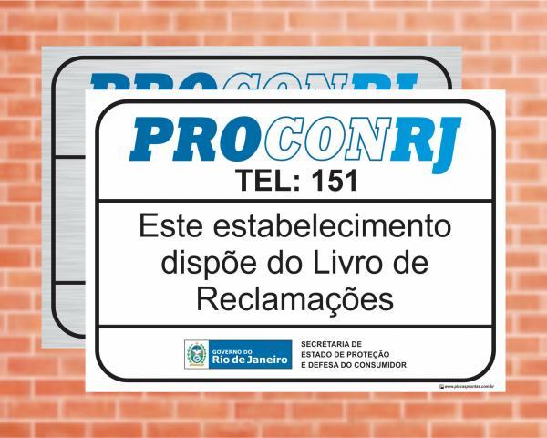 Placa Este estabelecimento dispõe do Livro de Reclamações. LEI Nº 6613 (Cod: L9)