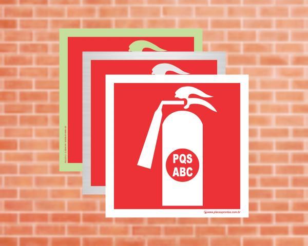 Placa Extintor (Pictograma) PQS-ABC (Cod: EX33)