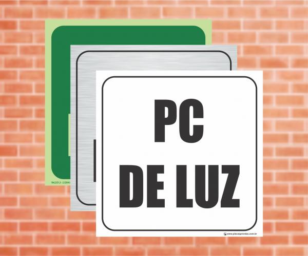 Placa Indicação do PC de Luz (Cod: PL04)