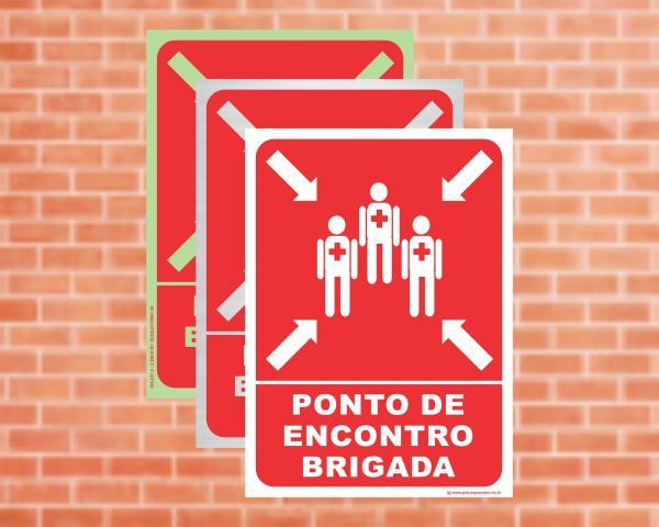 Placa Ponto de Encontro Brigada (Cod: PEB)