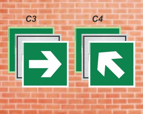 Seta indicando direção da rota de saída. (Cod: C3C4)